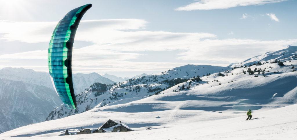 Alex Robin Snowkite Flysurfer soul 12m